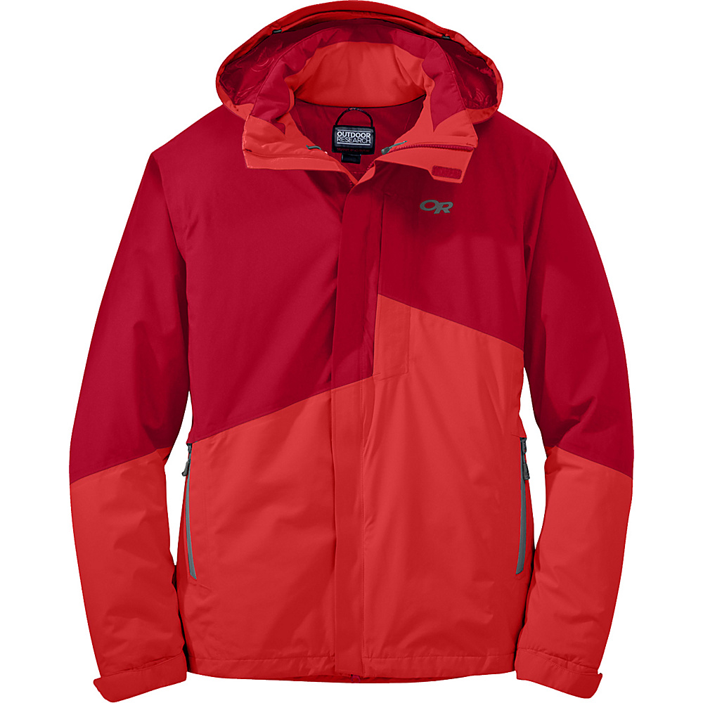 Outdoor Research Offchute Jacket S - Agate/Hot Sauce - Outdoor Research Mens Apparel - Apparel & Footwear, Men's Apparel