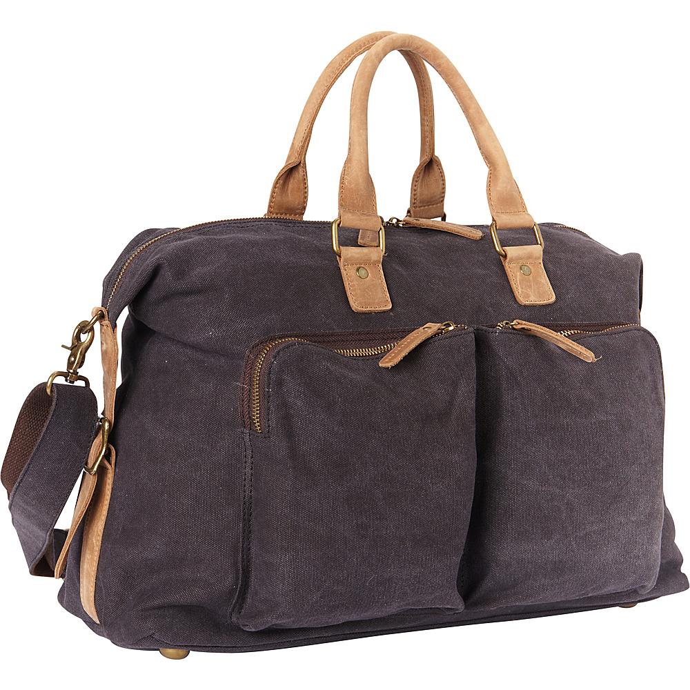 Vagabond Traveler Classic Canvas Over Night Travel Bag Grey - Vagabond Traveler Rolling Duffels - Luggage, Rolling Duffels