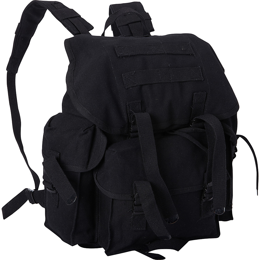 Fox Outdoor Medium NATO Style Rucksack Black Fox Outdoor Everyday Backpacks