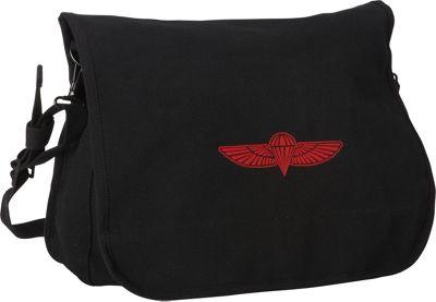 Fox Outdoor Israeli Paratrooper Bag Black - Fox Outdoor Messenger Bags