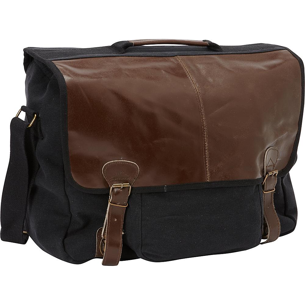 Fox Outdoor Graduate Satchel Briefcase Black - Fox Outdoor Messenger Bags