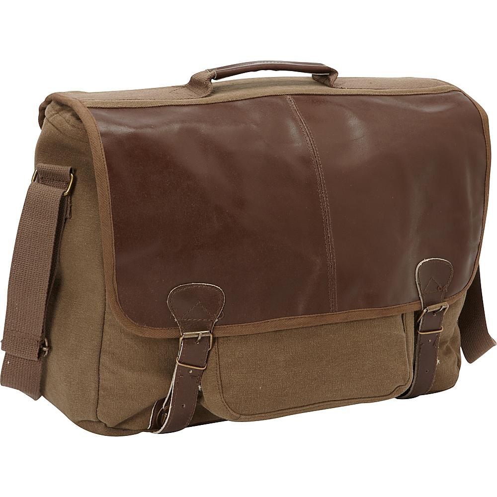 Fox Outdoor Graduate Satchel Briefcase Olive Brown - Fox Outdoor Messenger Bags