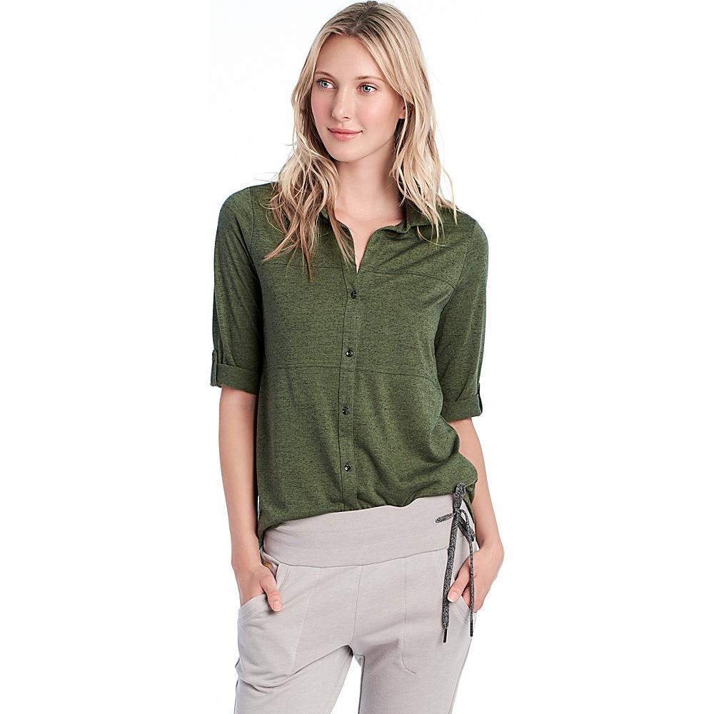 Lole Kaira Top S - Khaki Heather - Lole Womens Apparel - Apparel & Footwear, Women's Apparel