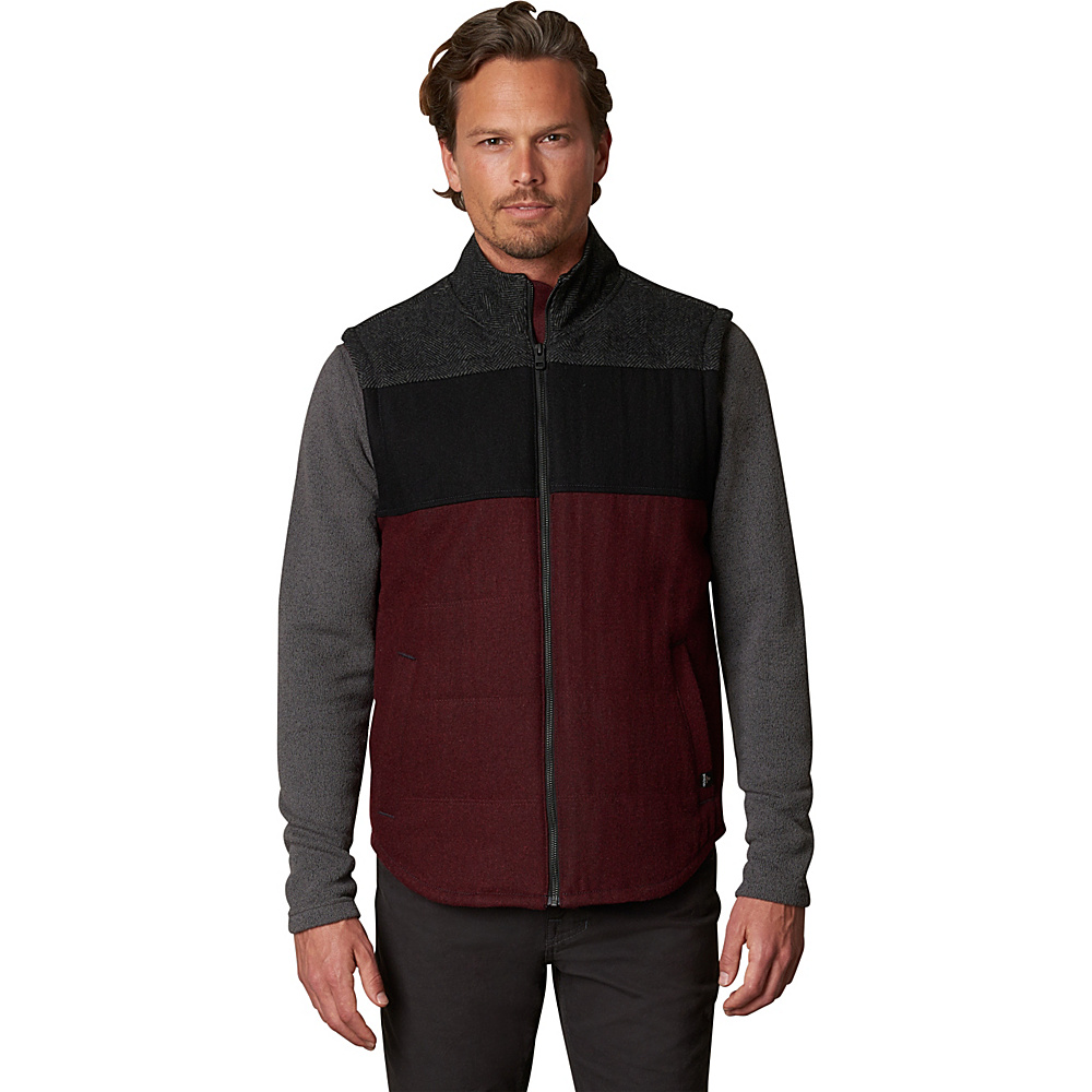PrAna Wooley Vest XL - Dark Umber Heather - PrAna Mens Apparel - Apparel & Footwear, Men's Apparel