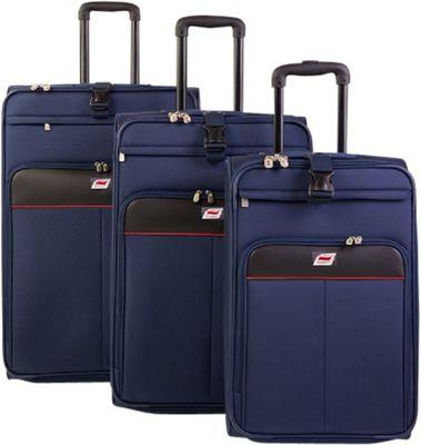 Andare Monterrey 2 Wheel Upright 3 Piece Set Navy - Andare Luggage Sets
