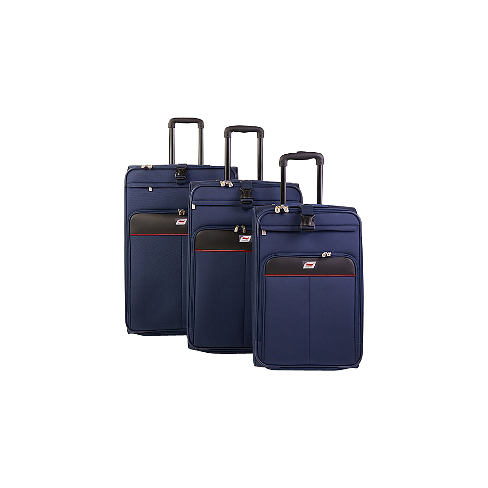 Andare Monterrey 2 Wheel Upright 3 Piece Set Navy Andare Luggage Sets