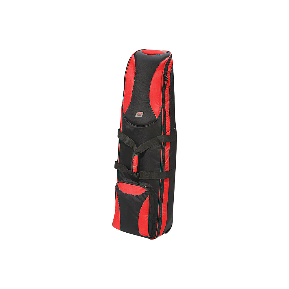 Andare Battalion Softside Wheeled Golf Set Travel Cover Red Black Andare Sports Accessories
