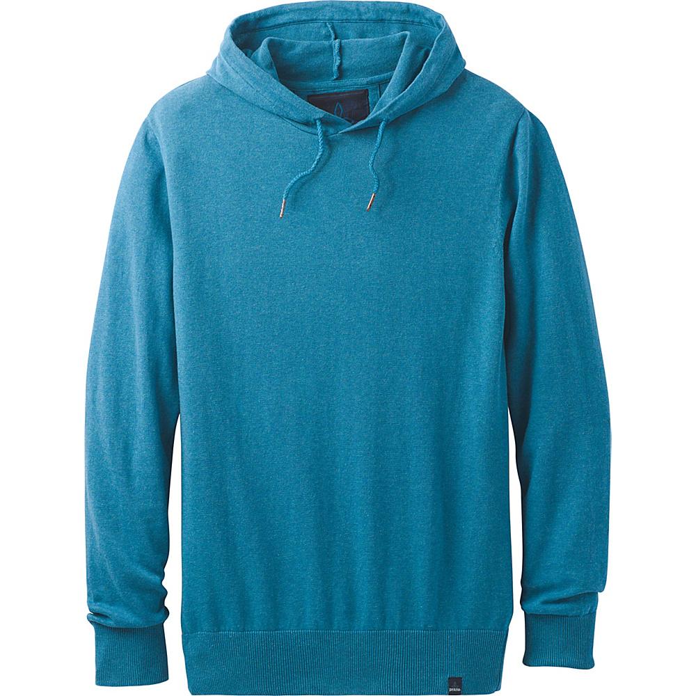 PrAna Throw-On Hooded Sweater XL - River Rock Blue - PrAna Mens Apparel - Apparel & Footwear, Men's Apparel