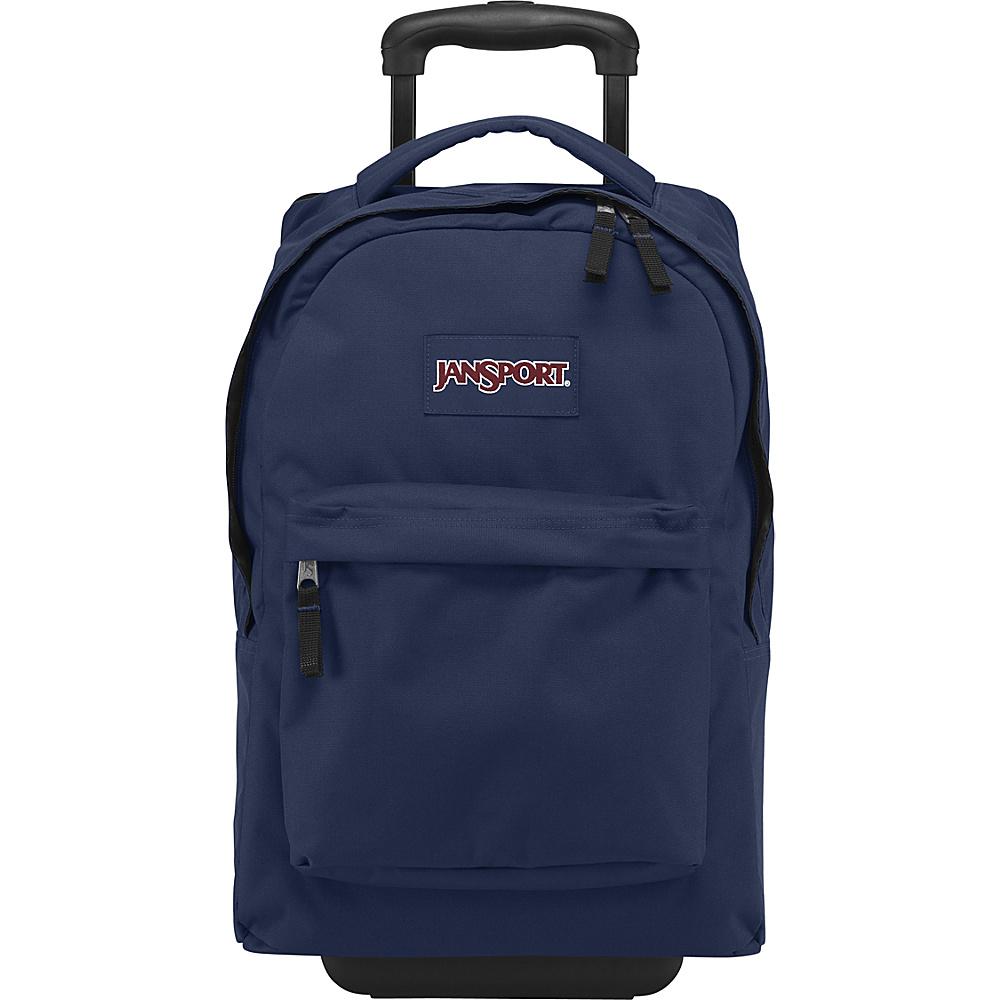 Jansport Wheeled SuperBreak Backpack - Navy - Backpacks, Rolling Backpacks