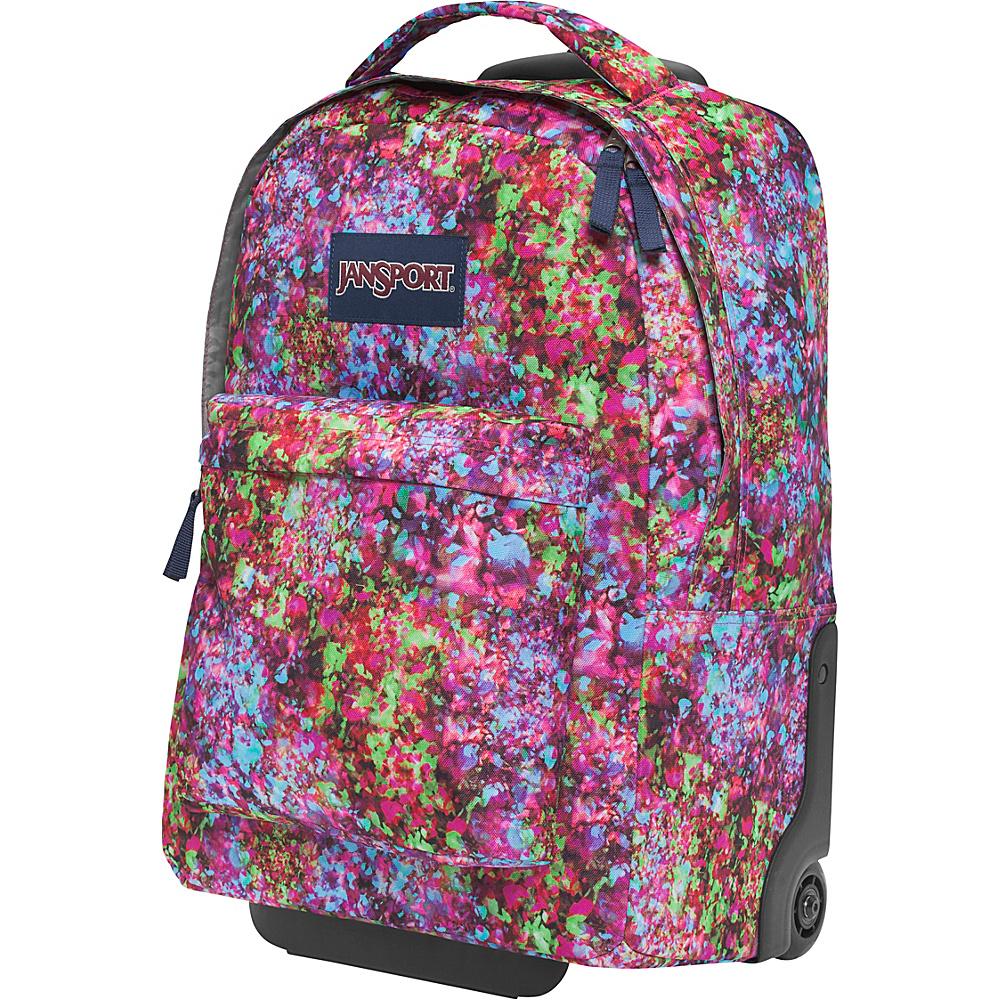 JanSport Wheeled SuperBreak Backpack- Discontinued Colors Multi Flower Explosion - JanSport Rolling Backpacks
