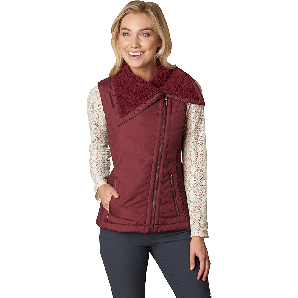 PrAna Diva Vest XS - Burgundy - PrAna Womens Apparel - Apparel & Footwear, Women's Apparel