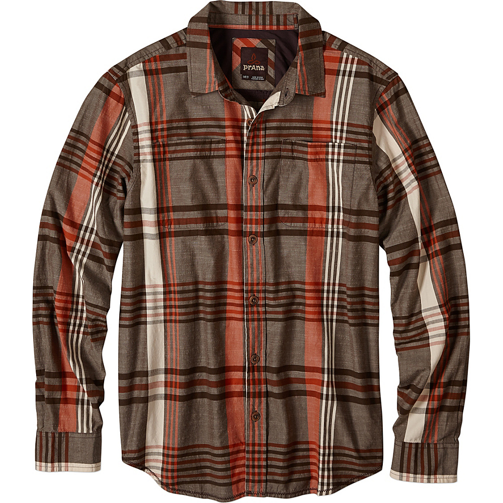 PrAna Delaney Shirt M - Brown - PrAna Mens Apparel - Apparel & Footwear, Men's Apparel