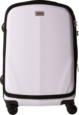 CASED Luggage One 26 inch Checked Bag White - CASED Luggage Softside Checked