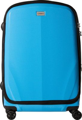 CASED Luggage One 26 inch Checked Bag Blue - CASED Luggage Softside Checked