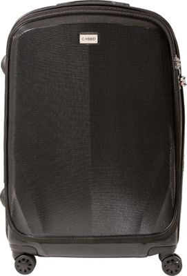 CASED Luggage One 26 inch Checked Bag Black - CASED Luggage Softside Checked