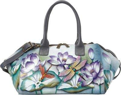 Anuschka Wide Convertible Tote Tranquil Pond - Anuschka Leather Handbags