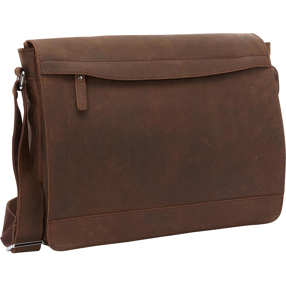 Vagabond Traveler Full Grain Leather Messenger Laptop Bag Vintage Distress - Vagabond Traveler Messenger Bags - Work Bags & Briefcases, Messenger Bags
