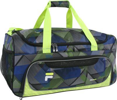 Fila Energy Medium Gym Duffel Bag Abstract Neon - Fila Gym Duffels