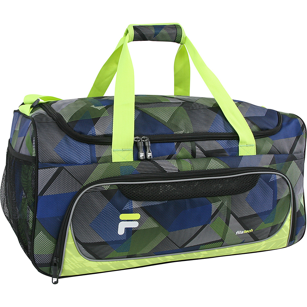 Fila Energy Medium Gym Duffel Bag Abstract Neon Fila Gym Duffels