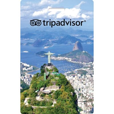 TripAdvisor TripAdvisor Interactive Luggage Tag Christ Redeemer - TripAdvisor Luggage Accessories