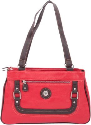 Mouflon Original RFID Generation Satchel Red/Brown - Mouflon Original Manmade Handbags