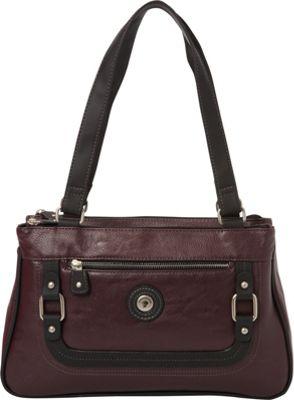 Mouflon Original RFID Generation Satchel Wine/Black - Mouflon Original Manmade Handbags
