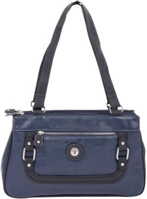 Mouflon Original RFID Generation Satchel Navy/Black - Mouflon Original Manmade Handbags