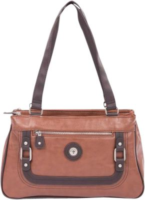 Mouflon Original RFID Generation Satchel Tan/Dark Brown - Mouflon Original Manmade Handbags