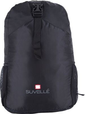 Suvelle Lightweight Travel Foldable Backpack Black - Suvelle Packable Bags