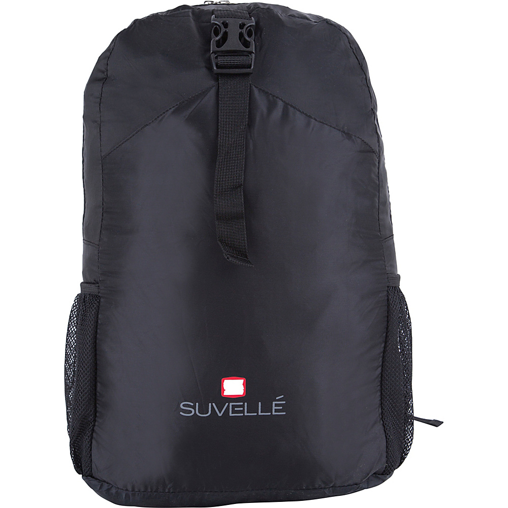 Suvelle Lightweight Travel Foldable Backpack Black Suvelle Packable Bags