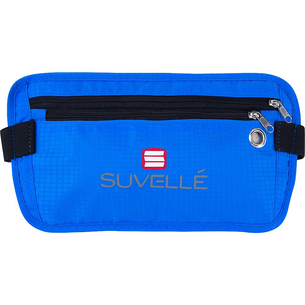 Suvelle RFID Hidden Travel Waist Pack Wallet Blue Suvelle Travel Wallets