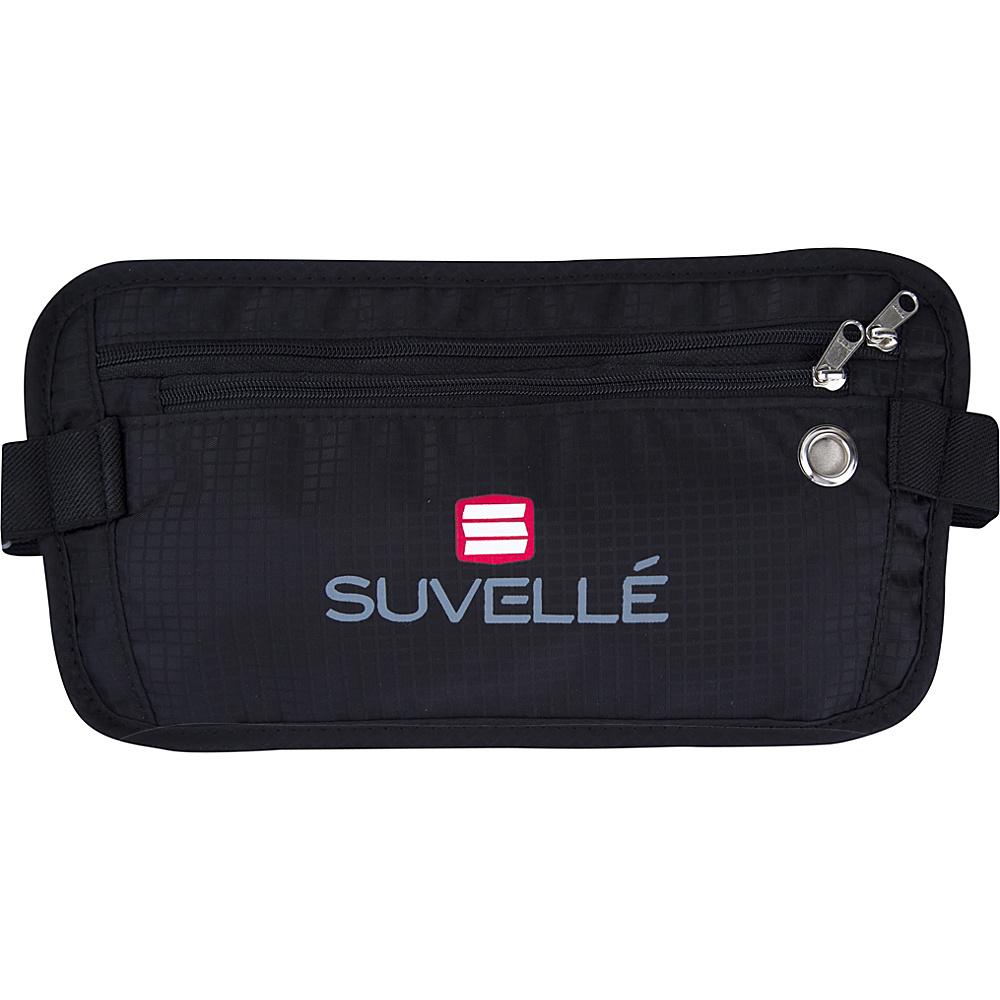 Suvelle RFID Hidden Travel Waist Pack Wallet Black Suvelle Travel Wallets