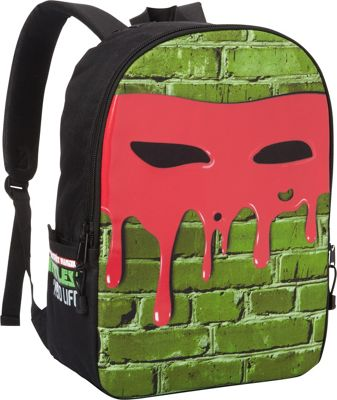 Mojo Life Turtles Leo Face  Backpack Green - Mojo Everyday Backpacks