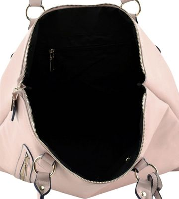Tara's Travelers Soft Rose Travel Tote Soft Rose/Subtle Navy Notes - Tara's Travelers Manmade Handbags