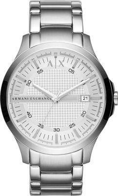 A/X Armani Exchange Monochromatic Analog Watch Silver - A/X Armani Exchange Watches