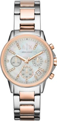 A/X Armani Exchange Smart Womens Chronograph Stainless Steel Watch Silver - A/X Armani Exchange Watches