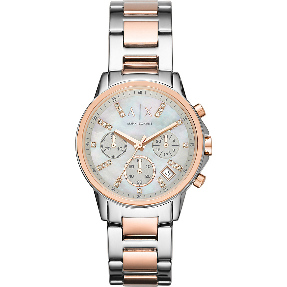 A X Armani Exchange Smart Womens Chronograph Stainless Steel Watch Silver A X Armani Exchange Watches