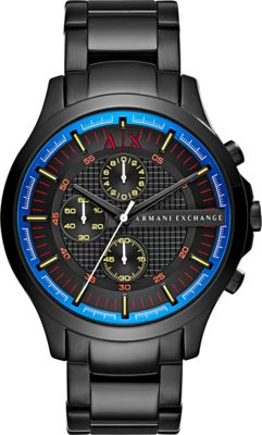 A/X Armani Exchange Smart Stainless Steel Chronograph Watch Black - A/X Armani Exchange Watches