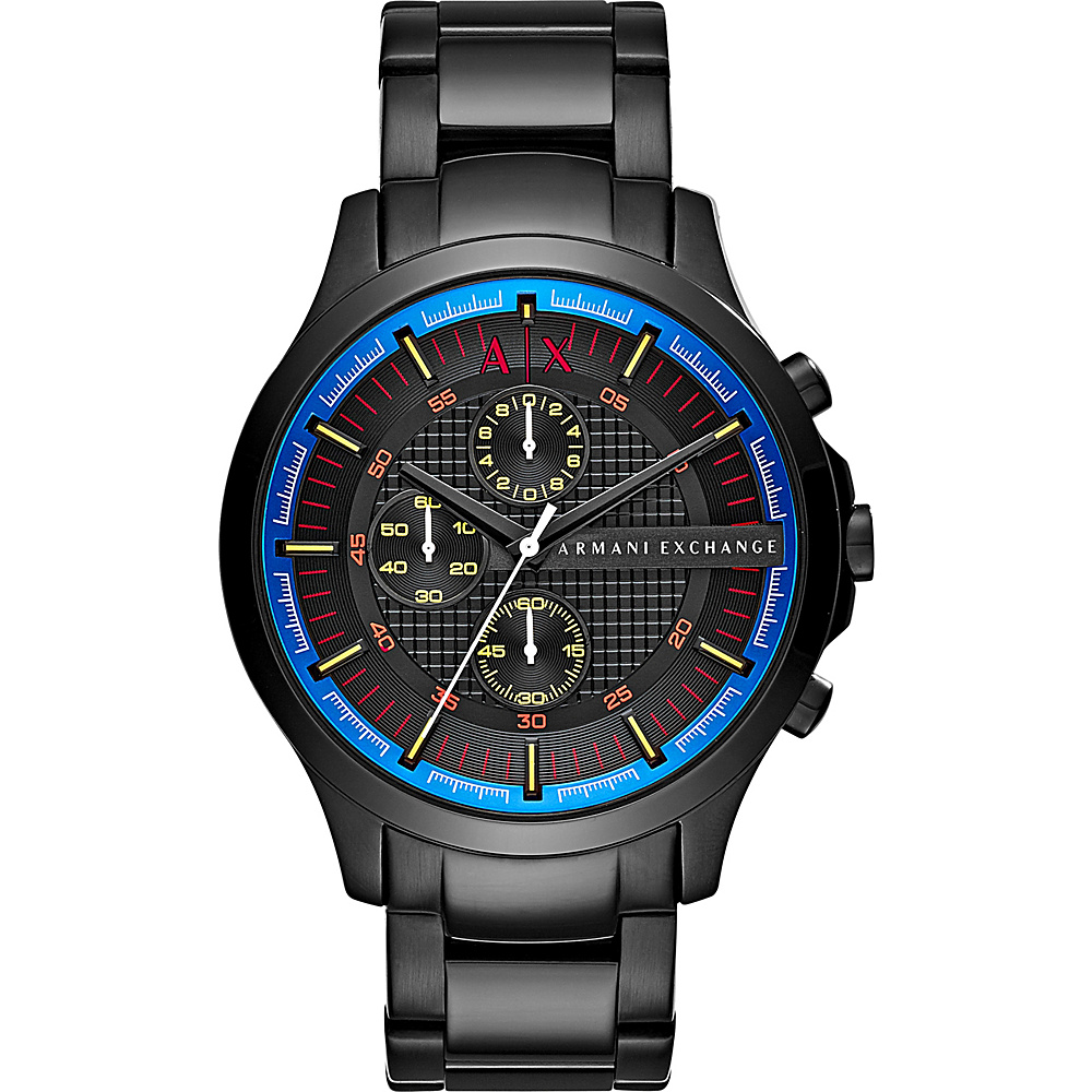 A X Armani Exchange Smart Stainless Steel Chronograph Watch Black A X Armani Exchange Watches