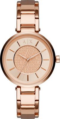 A/X Armani Exchange Street Womens Stainless Steel Watch Rose Gold - A/X Armani Exchange Watches