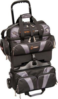 Hammer Premium Four Ball Roller Bowling Bag Carbon - Hammer Bowling Bags