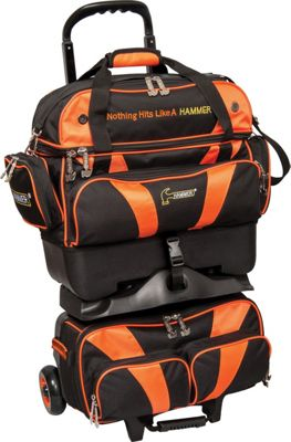 Hammer Premium Four Ball Roller Bowling Bag Orange - Hammer Bowling Bags
