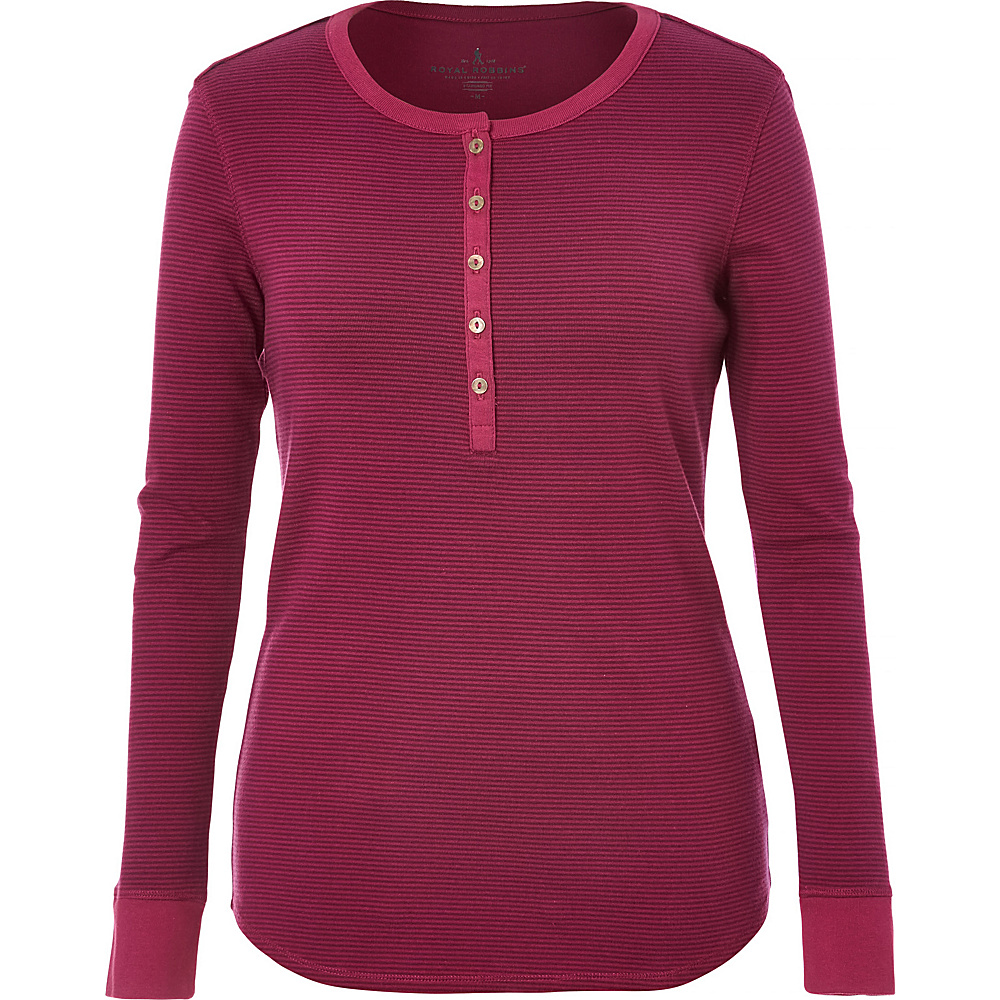 Royal Robbins Kick Back Striped Henley S - Potent Purple - Royal Robbins Womens Apparel - Apparel & Footwear, Women's Apparel