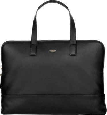 KNOMO London Mayfair Luxe Reeves Briefcase Black - KNOMO London Non-Wheeled Business Cases