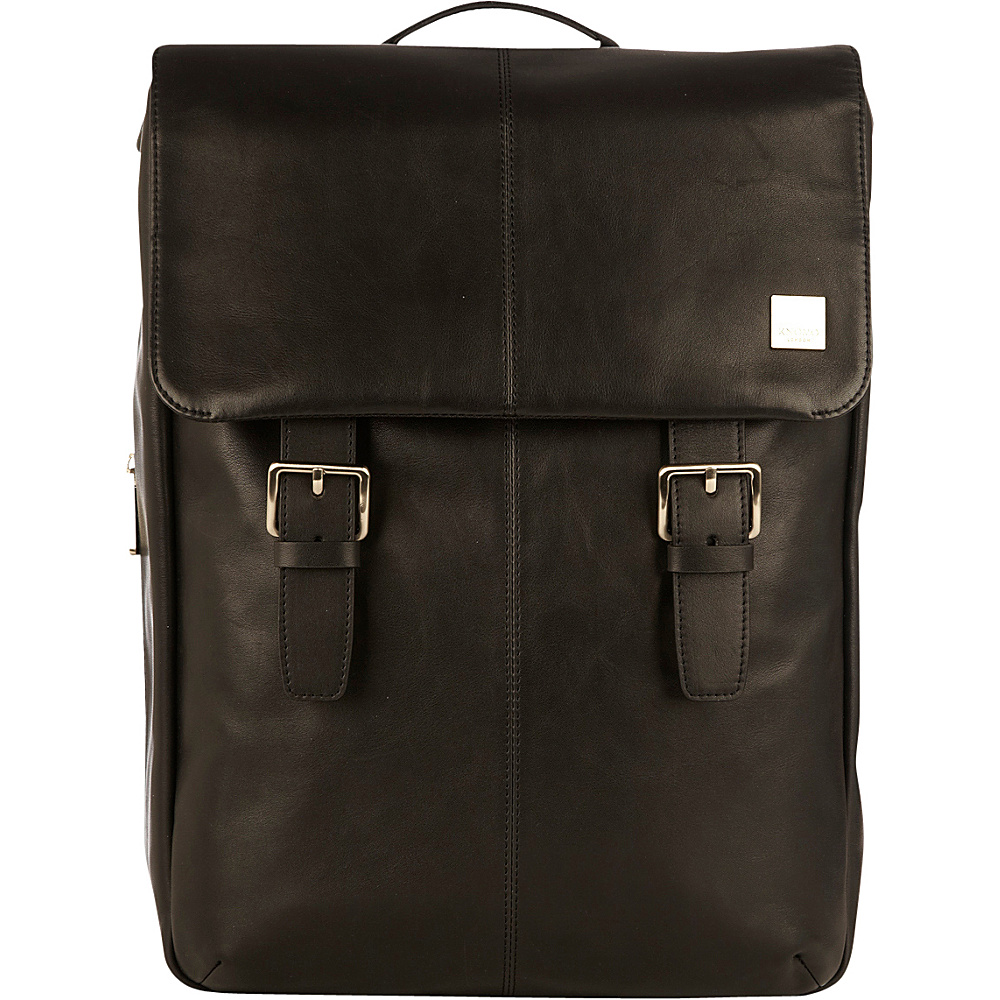 KNOMO London Brompton Classic Hudson Backpack Black KNOMO London Business Laptop Backpacks