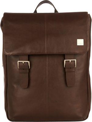KNOMO London Brompton Classic Hudson Backpack Brown - KNOMO London Business & Laptop Backpacks
