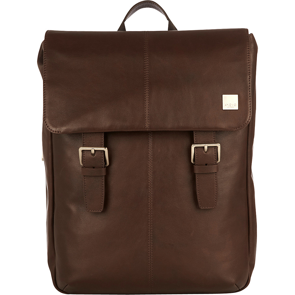 KNOMO London Brompton Classic Hudson Backpack Brown KNOMO London Business Laptop Backpacks