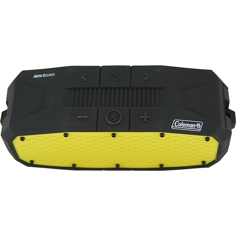 Coleman SoundTrail Rugged Waterproof Bluetooth Speaker Yellow Coleman Headphones Speakers