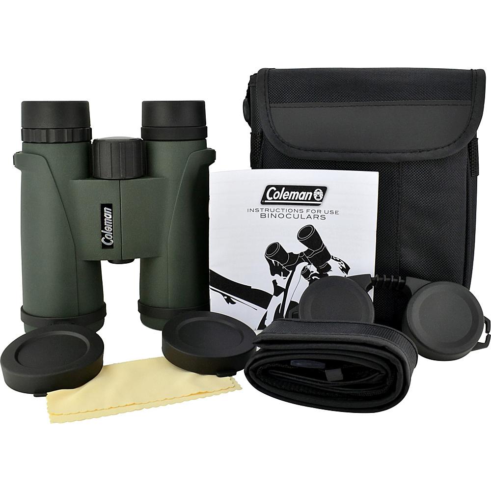 Coleman Signature 10x42 Waterproof Roof Prism Binoculars Black Coleman Cameras
