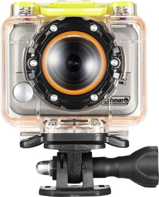Coleman Bravo 1080p HD & 5.0 MP Waterproof Sports Camera Kit Silver - Coleman Cameras